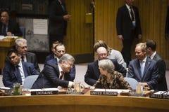 Presidente de Ucrânia Petro Poroshenko na assembleia geral do UN Imagem de Stock Royalty Free