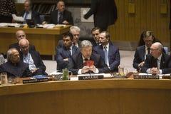 Presidente de Ucrânia Petro Poroshenko na assembleia geral do UN Imagens de Stock Royalty Free
