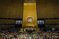 Presidente de Ucrania Petro Poroshenko en Asamblea General de la O.N.U fotos de archivo libres de regalías