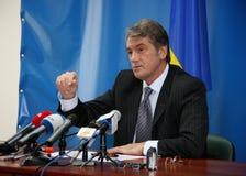 Presidente de Ucrania Viktor Yushchenko Imágenes de archivo libres de regalías