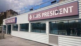 Presidente del HMS Foto de archivo