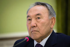 Presidente del Kazakistan Nursultan Nazarbayev immagine stock libera da diritti