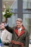 Presidente del Latvia Valdis Zatlers fotografia stock libera da diritti