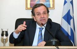 Presidente del partito politico Antoni di Nea Demokratia Fotografia Stock Libera da Diritti