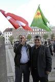 PRESIDENTE DEL TURCO DI RADUNO AAINST DI PROTES MESSO IN SCENA CURDI Immagine Stock Libera da Diritti