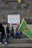 PRESIDENTE DEL TURCO DI RADUNO AAINST DI PROTES MESSO IN SCENA CURDI Immagini Stock Libere da Diritti