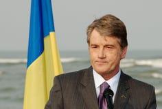 Presidente del vincitore Yushchenko dell'Ucraina Immagini Stock Libere da Diritti