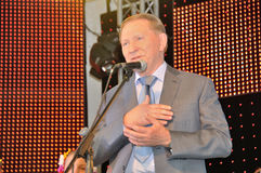 Presidente dell'Ucraina Leonid Kuchma immagine stock libera da diritti