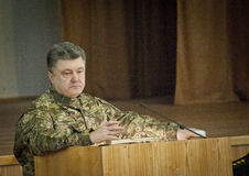 Presidente dell'Ucraina Petro Poroshenko Immagine Stock