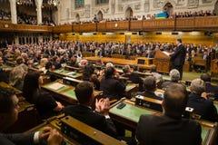 Presidente dell'Ucraina Petro Poroshenko in Ottawa (Canada) immagini stock libere da diritti