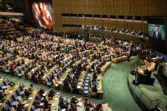 Presidente della Polonia Andrzej Duda sulla settantesima sessione dell'ONU Immagine Stock