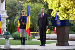 Presidente della Romania Klaus Iohannis Fotografia Stock Libera da Diritti