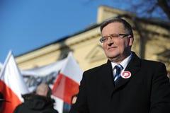 Presidente di Bronislaw Komorowski di Polnad Immagine Stock Libera da Diritti