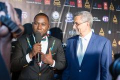 Presidente di Capo Verde Jorge Carlos Almeida Fonseca (destra) Immagine Stock