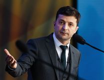 Presidente di neoeletto dell'Ucraina Vladimir Zelensky fotografie stock libere da diritti