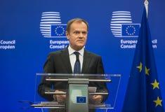 Presidente do Conselho Europeu Donald Tusk fotos de stock