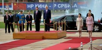 Presidente do People's a República da China Xi Jinping em uma visita de três dias oficial à república da Sérvia Fotografia de Stock Royalty Free