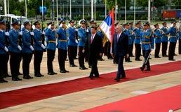 Presidente do People's a República da China Xi Jinping em uma visita de três dias oficial à república da Sérvia Foto de Stock Royalty Free