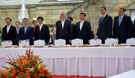 Presidente do People's a República da China Xi Jinping em uma visita de três dias oficial à república da Sérvia Fotografia de Stock