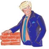 Presidente Donald Trump Build uma parede