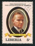 Presidente dos Estados Unidos Calvin Coolidge Fotos de Stock Royalty Free
