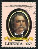 Presidente dos Estados Unidos Chester Arthur foto de stock