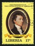 Presidente dos Estados Unidos James Monroe fotografia de stock