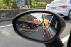 Presidente Dutra Road. Barra Mansa, Brazil - november 29, 2017: Main Presidente Dutra Highway linking the city of S‹o Paulo to Rio de Janeiro near KM 277 royalty free stock photography