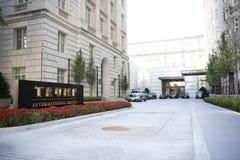 Presidente Eleger Donald J Trunfo hotel internacional imagem de stock