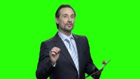Presidente en el seminario del negocio almacen de video