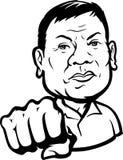 2017: Presidente filipino Rodrigo Roa Duterte Making un puño