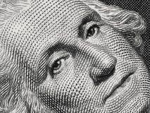 Presidente George Washington de los E.E.U.U. hace frente al retrato en la muñeca de los E.E.U.U. uno Foto de archivo
