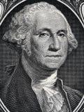 Presidente George Washington de los E.E.U.U. hace frente al retrato en la muñeca de los E.E.U.U. uno Fotografía de archivo