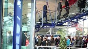 Presidente Guido Raimondi European Court de derechos humanos y Emmanuel Macron