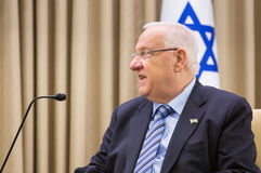 Presidente israelí Reuven Rivlin Fotos de archivo libres de regalías