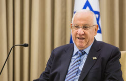 Presidente israelí Reuven Rivlin Imagenes de archivo