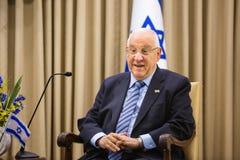 Presidente israelí Reuven Rivlin Foto de archivo