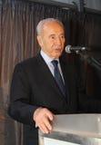 Presidente israeliano Shimon Peres. fotografia stock