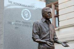Presidente Jimmy Carter Statue a Georgia Statehouse Fotografie Stock