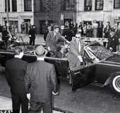 Presidente John F Kennedy In NYC Fotografia de Stock