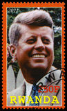Presidente Kennedy Postage Stamp de Ruanda Fotos de Stock Royalty Free