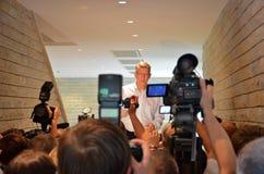 Presidente lettone Valdis Zatlers al suo addio m. Immagine Stock