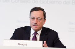 Presidente Mario Draghi do Banco Central Europeu Imagem de Stock