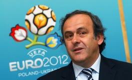 Presidente Michel Platini dell'UEFA Immagini Stock