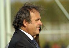 Presidente Michel Platini dell'UEFA Fotografia Stock