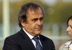 Presidente Michel Platini dell'UEFA Immagini Stock Libere da Diritti