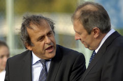 Presidente Michel Platini do UEFA Imagem de Stock Royalty Free