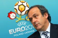 Presidente Miguel Platini de la UEFA fotografía de archivo