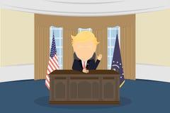 presidente nella Casa Bianca  Immagini Stock
