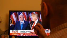 Presidente noticias de última hora del triunfo almacen de metraje de vídeo